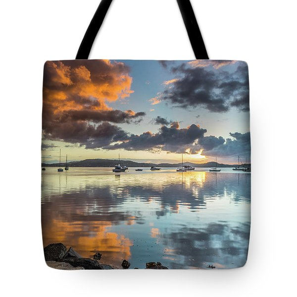 Morning Reflections Waterscape Tote Bag