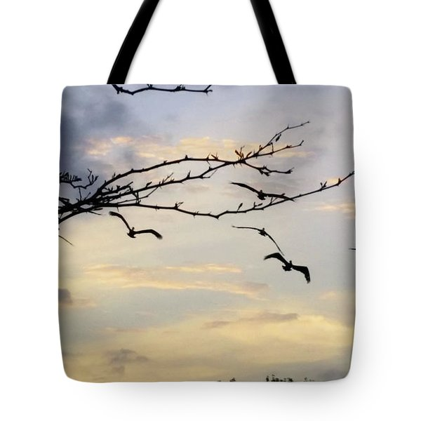 Morning Sky View Tote Bag