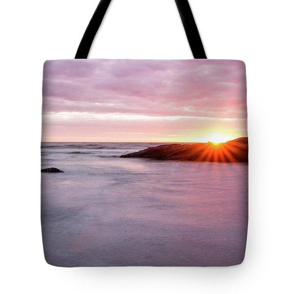 Morning Sun Good Harbor Tote Bag