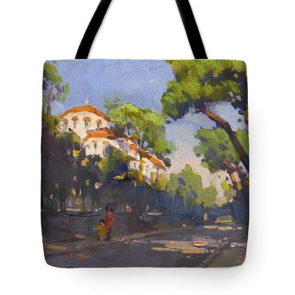 Morning Sunlight Athens Tote Bag