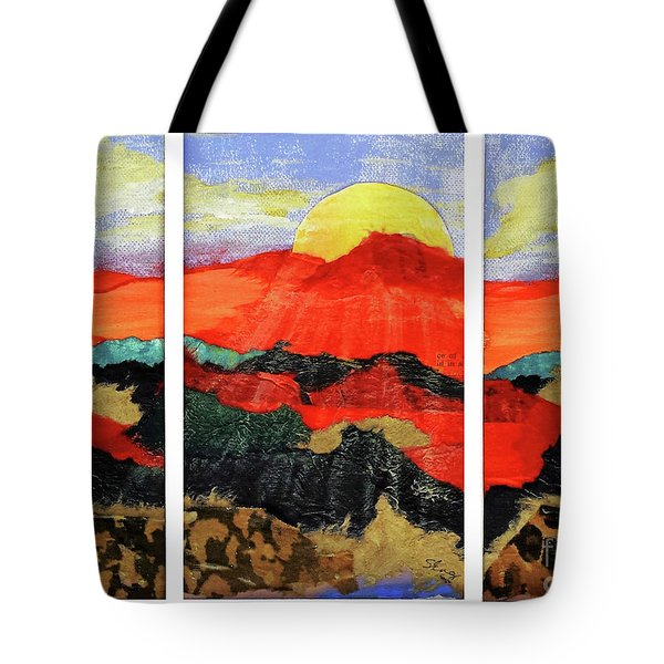 Morning's Promise Triptych Tote Bag