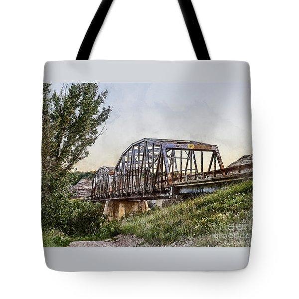 Tote Bag featuring the photograph Morrin Bridge by Brad Allen Fine Art