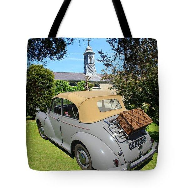 Morris Minor Grey Convertible Tote Bag