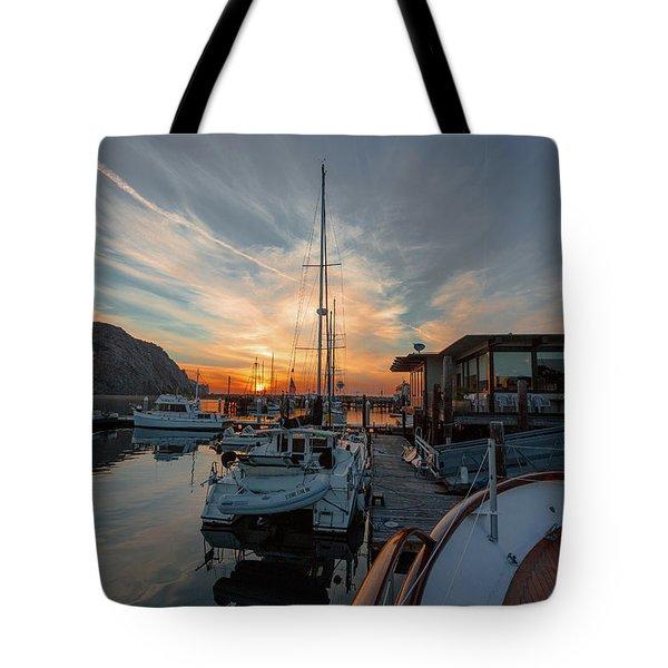 Morro Bay Sunset Tote Bag