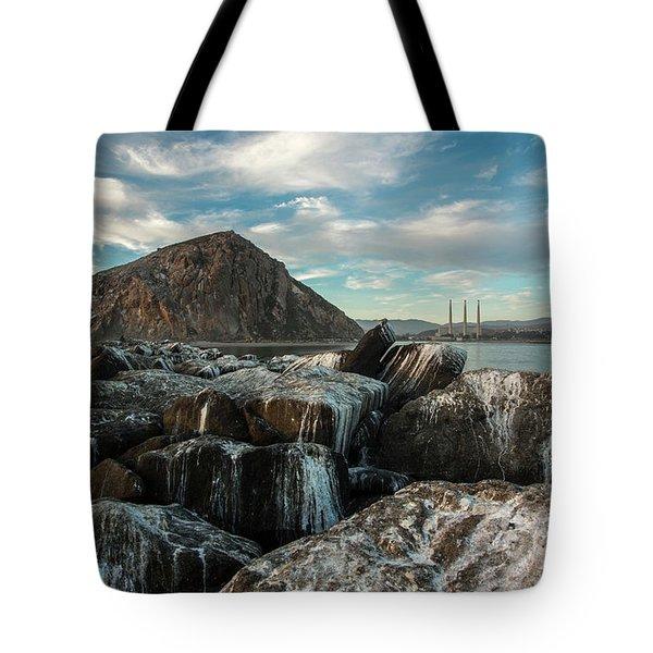 Morro Rock Breakwater Tote Bag
