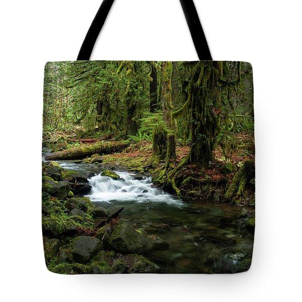 Mossy Cascade Tote Bag