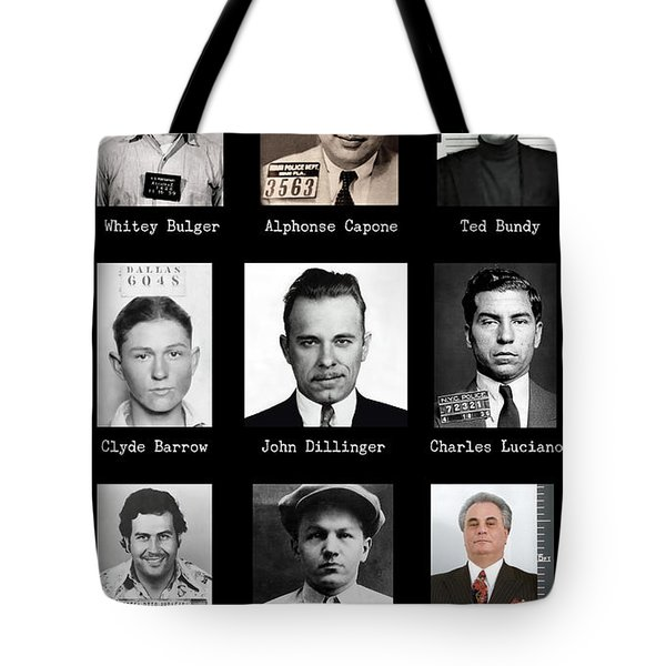 Most Wanted - Crime Public Enemies Tote Bag