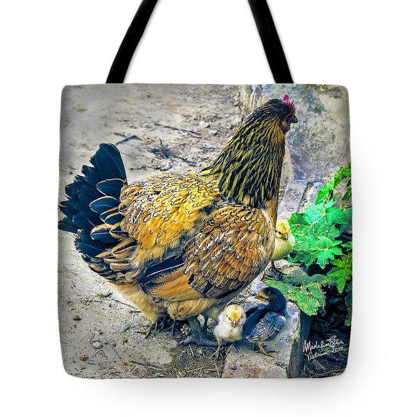 Mother Hen And Brood Tote Bag