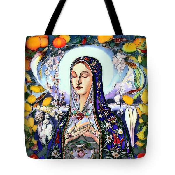 Tote Bag featuring the digital art Mother Mary by Pennie McCracken