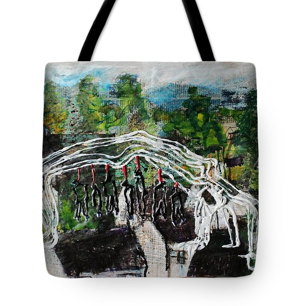 Mother Money Begins To Collapse Tote Bag