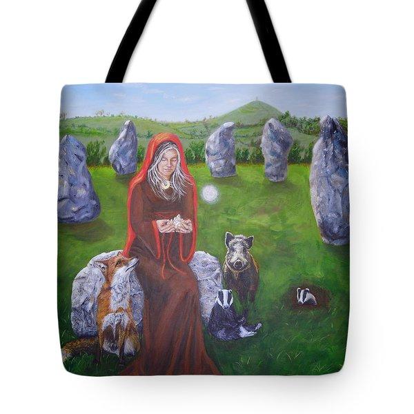 Mother Of Earth Goddess Brigantia Tote Bag