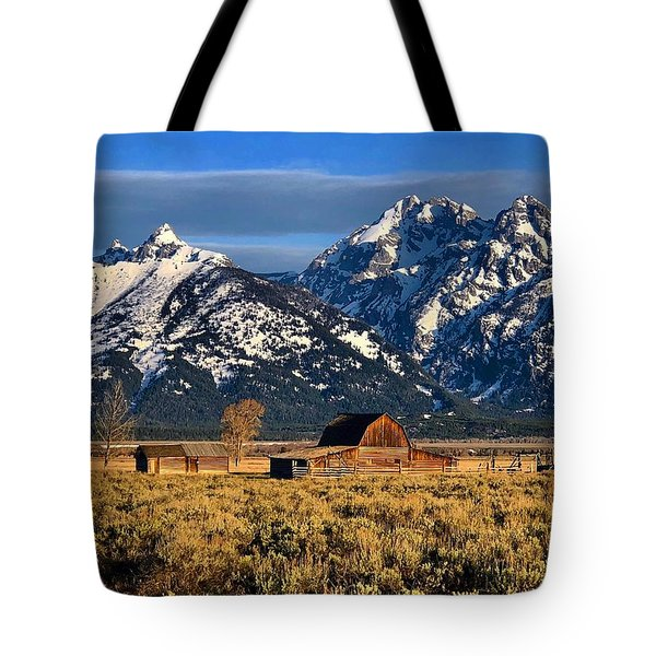 Moulton Barn Grand Tetons Tote Bag