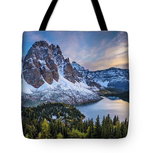 Mount Assiniboine Panorama Tote Bag