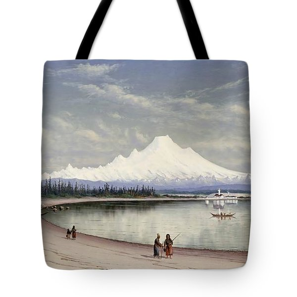 Mount Baker From Near Port Townsend  Tote Bag