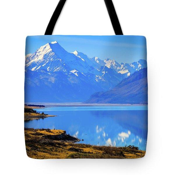 Mount Cook Overlooking Lake Pukaki,  New Zealand Tote Bag