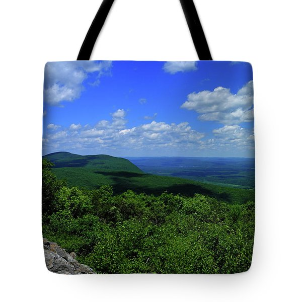 Tote Bag featuring the photograph Mount Everett And Mount Race From The Summit Of Bear Mountain In Connecticut by Raymond Salani III