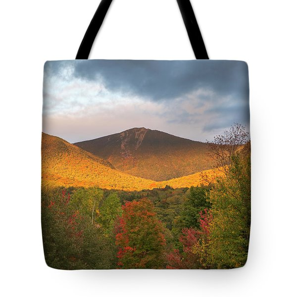 Mount Flume Autumn Sunset Tote Bag