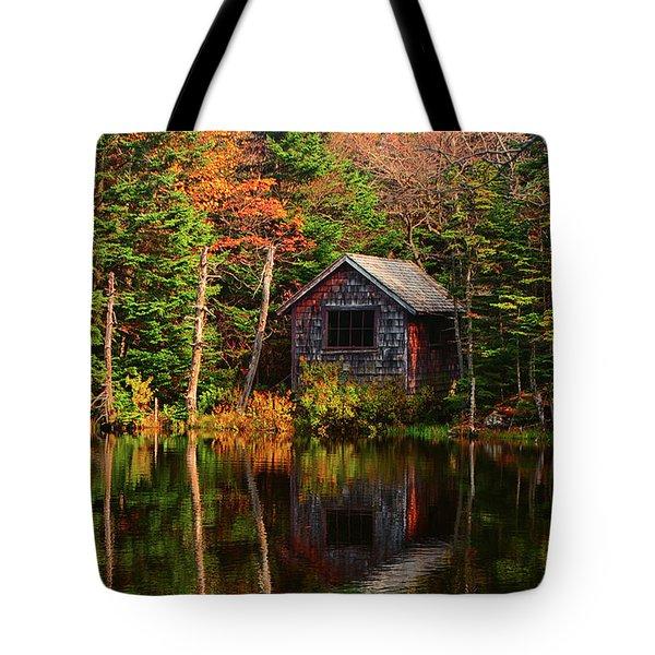 Tote Bag featuring the photograph Mount Greylock Cabin by Raymond Salani III