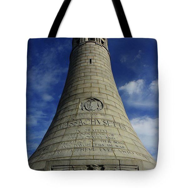 Tote Bag featuring the photograph Mount Greylock Tower Up And Close 2 by Raymond Salani III