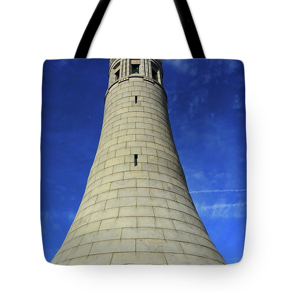 Tote Bag featuring the photograph Mount Greylock Tower Up And Close by Raymond Salani III