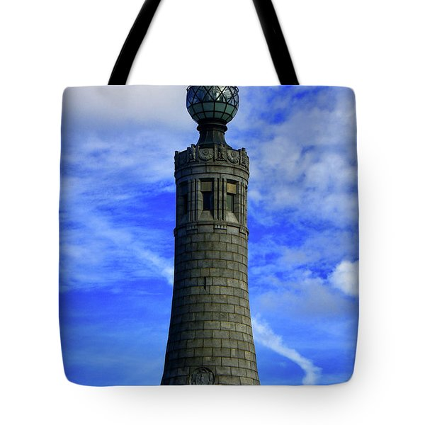 Tote Bag featuring the photograph Mount Greylock Tower With Clouds by Raymond Salani III