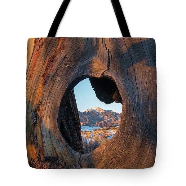 Mount Herard Framed, Great Sand Dunes Tote Bag