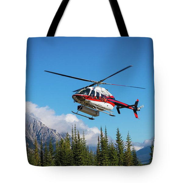 Mount Shark Helicopter Tote Bag