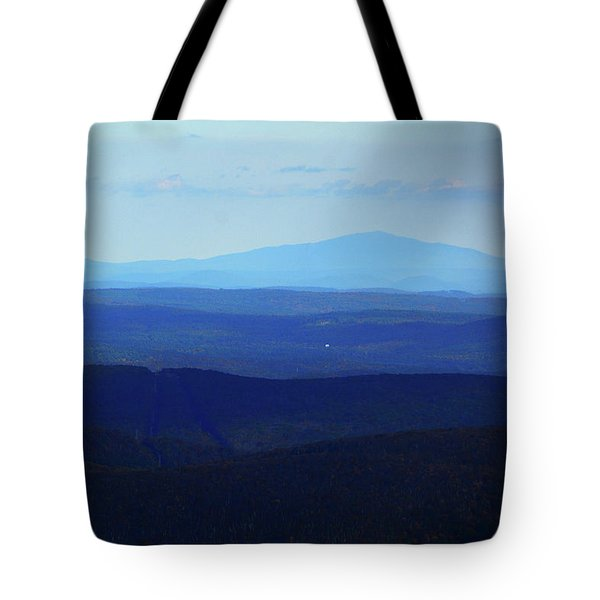 Tote Bag featuring the photograph Mount Monadnock From Mount Greylock by Raymond Salani III
