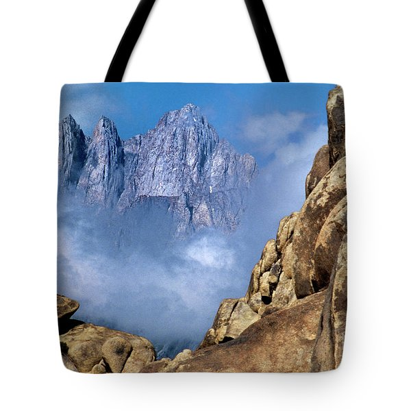 Mount Whitney Clearing Storm Eastern Sierras California Tote Bag