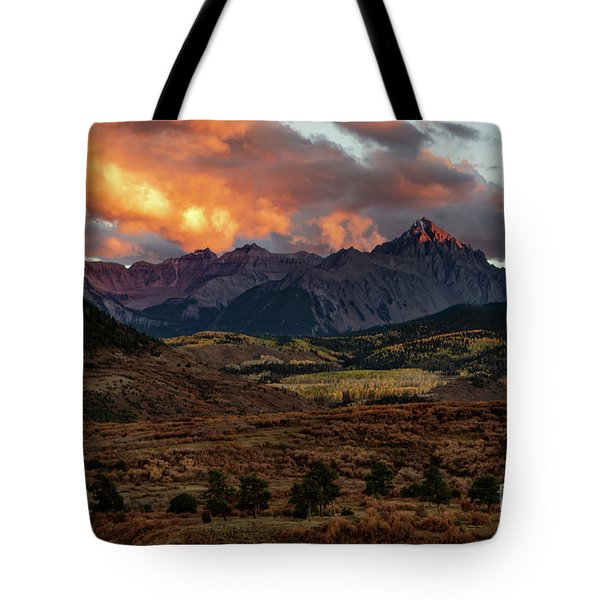 Mount Sneffels Sunset Highlights Tote Bag