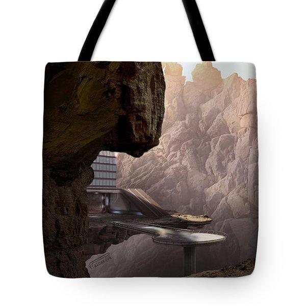 Mountain Door Tote Bag