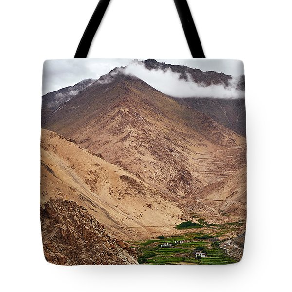 Tote Bag featuring the photograph Mountain Farming by Whitney Goodey