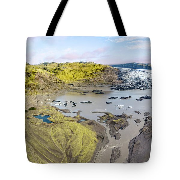 Tote Bag featuring the photograph Mountain Glacier by David Letts