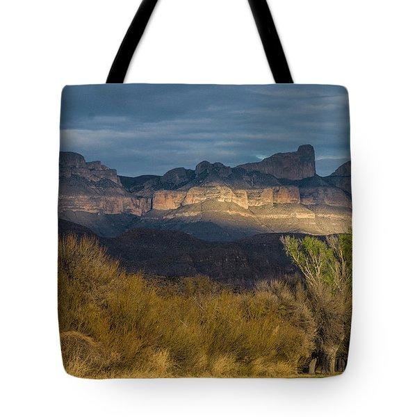 Mountain Illumination Tote Bag