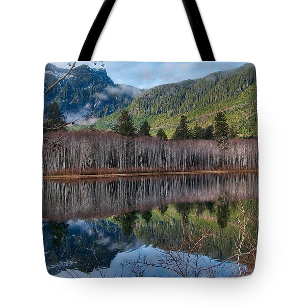Mountain Lake Reflections Tote Bag