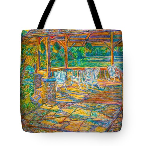 Mountain Lake Shadows Tote Bag