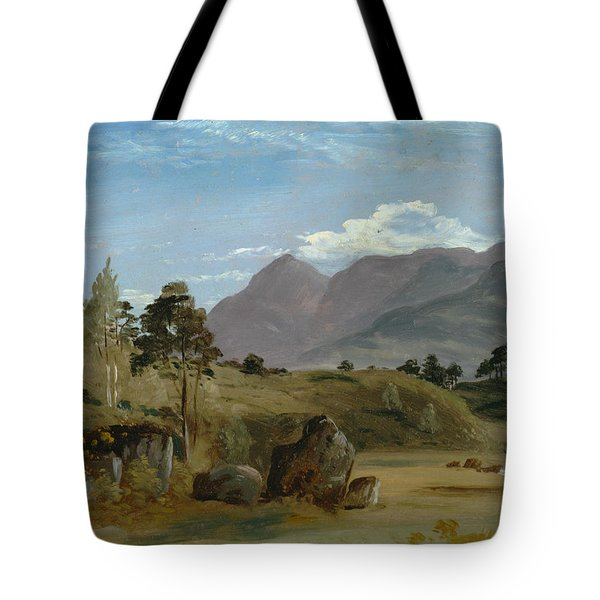 Mountain Landscape, Possibly In The Lake District Tote Bag