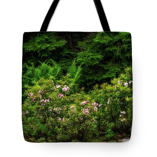 Mountain Laurel And Ferns Tote Bag