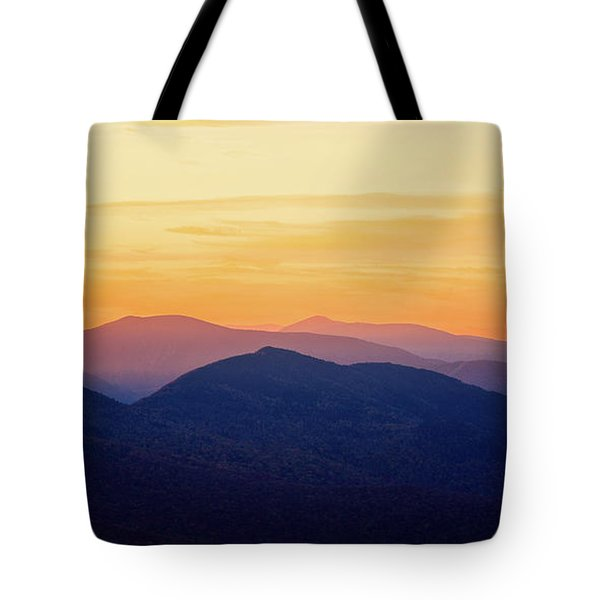 Mountain Light And Silhouette  Tote Bag
