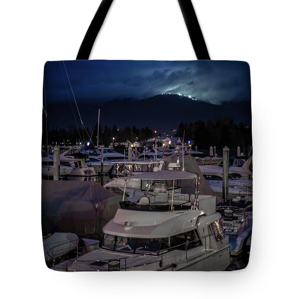 Tote Bag featuring the photograph Mountain Lights by Ross G Strachan