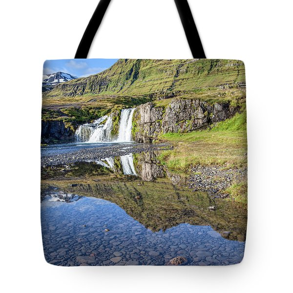 Tote Bag featuring the photograph Mountain Reflection by David Letts