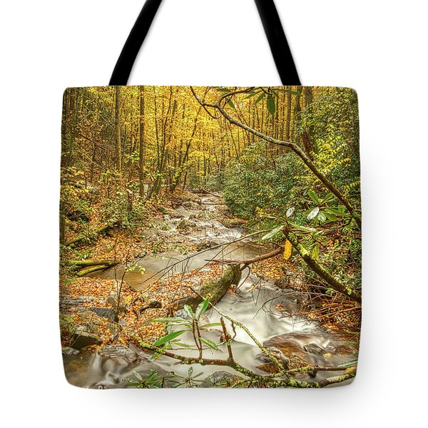 Tote Bag featuring the photograph Mountain Stream by Meta Gatschenberger
