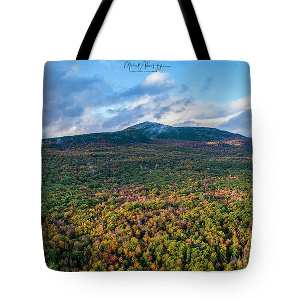 Tote Bag featuring the photograph Mountain That Stands Alone by Michael Hughes