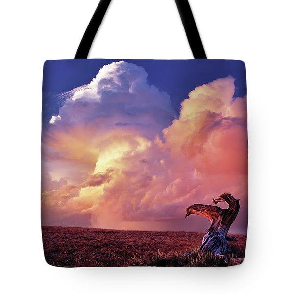 Mountain Thunder Shower Tote Bag