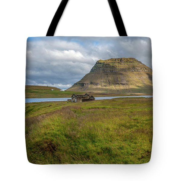 Tote Bag featuring the photograph Mountain Top Of Iceland by David Letts