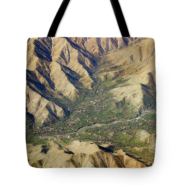 Tote Bag featuring the photograph Mountain Valley Village by SR Green