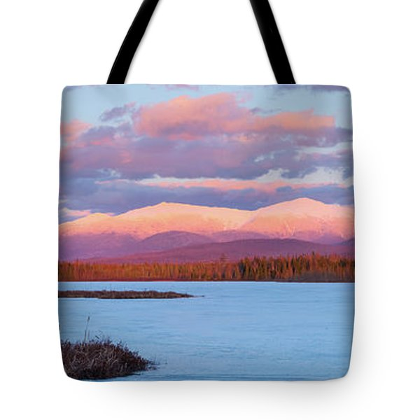 Mountain Views Over Cherry Pond Tote Bag