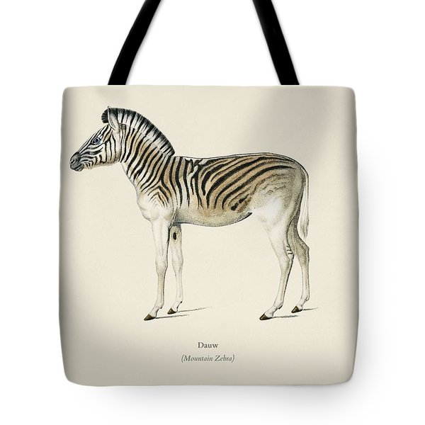 Mountain Zebra  Dauw  Illustrated By Charles Dessalines D' Orbigny  1806-1876 2 Tote Bag