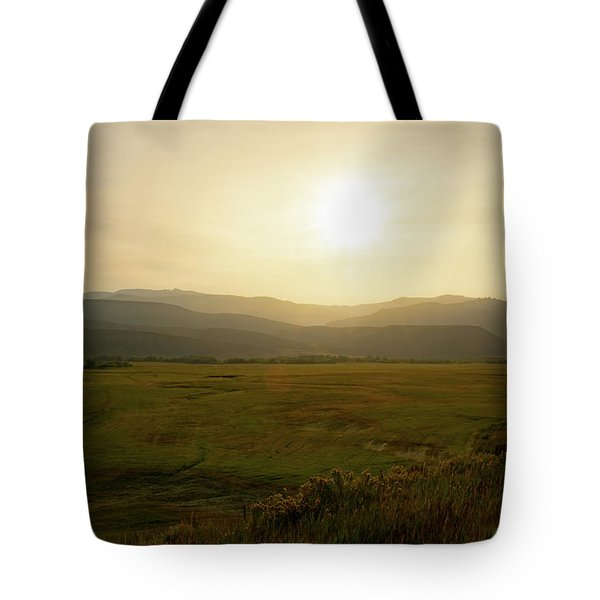 Mountains At Dawn Tote Bag