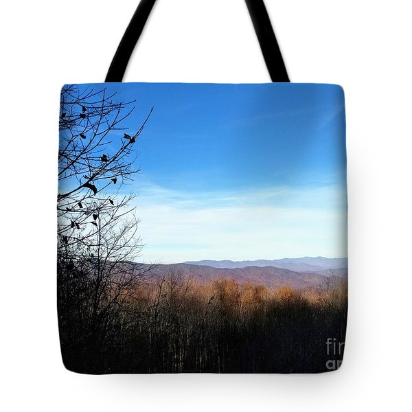 Tote Bag featuring the photograph Mountains For Miles by Rachel Hannah